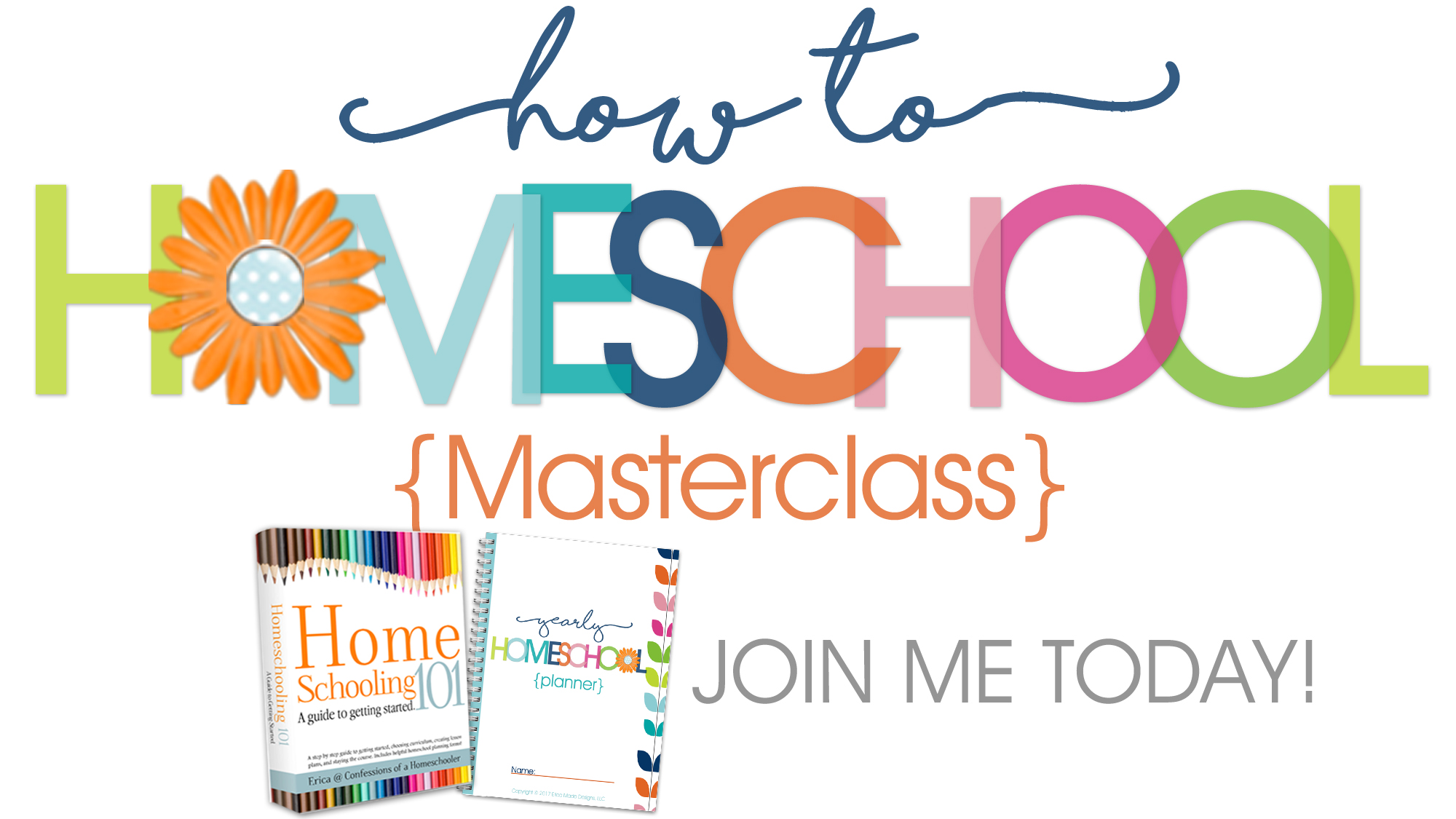 We'll talk about all about homeschooling laws, getting started homeschooling,  choosing the best curriculum for your family, what to teach and when, ...