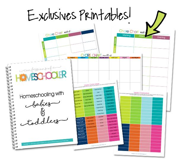 Homeschool Organization Course Bonus Exclusive Printables